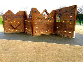 Climbing wall front