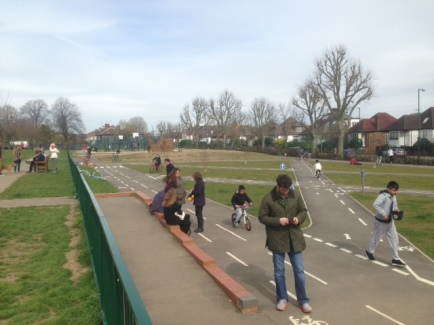 Cycle path popular April 2016 (Crispin shot)