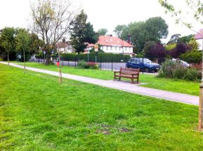 East path and bench