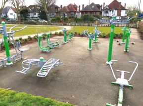 Gym with planting